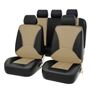 9 Pieces PU Leather Car Seat Covers Front & Rear Full Interior Accessories Set