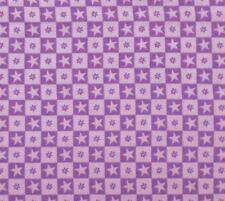 Cotton Flannel Fabric Purple Light Purple Stars Checkers David Textiles BTHY