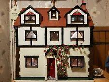 Large Tudor Style Custom Built Dollhouse