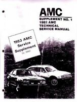 1983 AMC Shop Service Repair Manual Book Supplement Engine Electrical Drivetrain