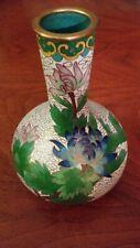 """Cloissone Vase 5.25"""" High Floral Design Pattern"""