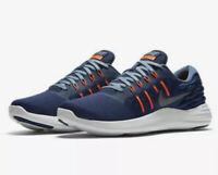 New Men Nike LunarStelos Running Shoes Blue And Orange