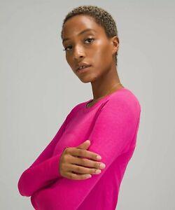 NEW Women Lululemon Swiftly Tech Long Sleeve 2.0 Race Length Sonic Pink  8 & 12