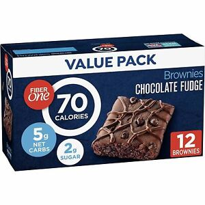 Fiber One 70 Calorie Bar, Brownies Chocolate Fudge, 12 ct (Pack of 4)