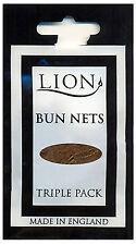 Lion Bun Nets Medium Brown x600 (200 Triple Packs) Ballet,Dance,Gym,Horseriding
