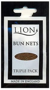 Lion Bun Nets Light Brown x600 (200 Triple Packs) Ballet,Dance,Gym,Horseriding