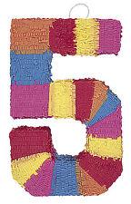 Pinata Numeral 5 (55cm x 35cm) M6675 , Girls Boys Birthday , Kids Party , Favors