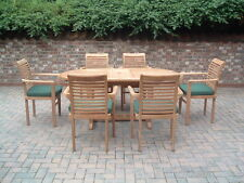 THE MALTON - TEAK 6 SEATER TABLE AND CHAIRS SET
