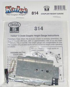 Kadee S scale # 814   Coupler Height Gauge / Track Gauge Tool ~  New
