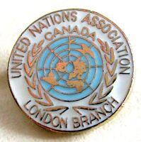 Canadian United Nation U.N Association CANADA London Branch Lapel Pin