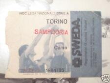 TORINO - SAMPDORIA BIGLIETTO TICKET 1984 / 85