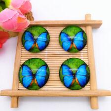 4PCS 25mm Photo Beautiful Butterfly Handmade Glass Dome Cabochon Flatback A164