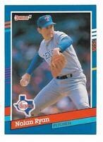 NOLAN RYAN ~ 1991 Donruss Baseball 2 Card Lot ~ #89 & Highlights #BC-3 ~ HOF