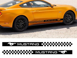 X2 Side Sticker Decals Stripes Wraps Body Stickers Car Styling For Ford Mustang