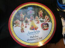 Jim Shore Disney Snow White And The Seven Dwarfs Ornament 9 Pc Set Apple New