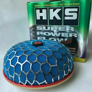 80mm Blue HKS Super Power Air Filter Flow caliber Intake Reloaded Cleaner