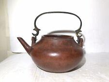 Rare Old Chinese Zisha Clay Yixing Teapot Marked