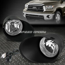 FOR 07-13 TOYOTA TUNDRA PICKUP CLEAR LENS OE DRIVING PAIR FOG LIGHT LAMP+SWITCH