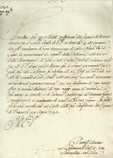 Cantone Urania 1742 Documento del Landamano sul Vescovo di Capsa