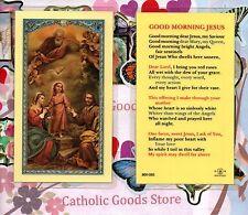 Good Morning Jesus - Laminated Holy Card