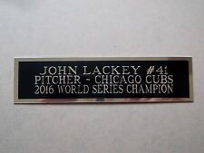 John Lackey Cubs Engraved Nameplate For A Baseball Jersey Display Case 1.5 x 8