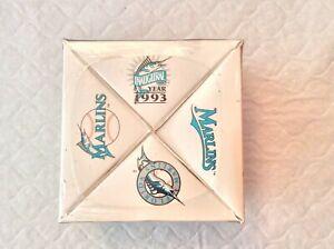 1993 FLORIDA MARLINS  INAUGURAL YEAR COMMERATIVE UNOPENED SHADOW BOX  BASEBALL