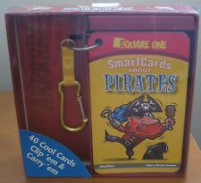 Pirate Flash Cards Smart Cards with Clip Square One playBac Brain Power Fun