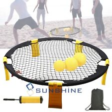 Pro Spikeball Kit(6-in-1), Includes Playing Net,3 Balls,Air Pump,Ball Needle,Bag