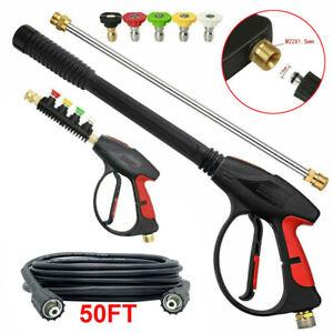 High Pressure 4000PSI Car Power Washer Gun Spray Wand Lance Nozzle Hose Kit M22
