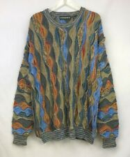 Vintage 90s Mens Tundra 3D Multi-Color Hip-Hop Sweater ~ Size Large