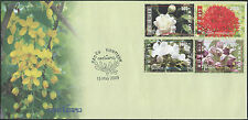 LAOS 1er Jour N°1719/1722 Fleurs,  2009, Flowers on FDC