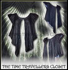 BNWT Kate Moss noir argent ART DECO vintage en laine mélangée BOLERO Swing Cardigan 8