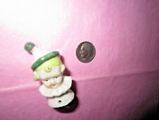 Vintage German 1/2 Doll Porcelain Boy Jester Clown Pin Cushion Head #6595 Sewing