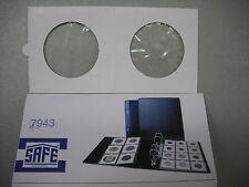 SAFE confezione da 10 OBLO' ADESIVI XL MONETE fino a 43 mm. esterno 67 x 67 mm.