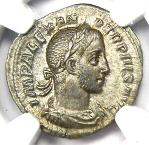 Roman Severus Alexander AR Denarius Coin 222-235 AD - Certified NGC AU