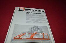 Daunham Lehr Series 21 Cultimulcher Dealer's Brochure YABE8