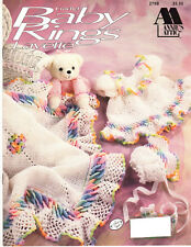 My054 Annie's Attic 1992 Crocheted Baby Rings Layette 2 Sets