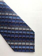 "New Joseph & Feiss Men's Silk Neck Tie  Blue Gray Brown 57""L  3.5""W"
