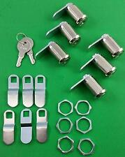 RV Trailer Motorhome Storage Compartment Door Cam Lock Set Of 6 Six 18-3319-6