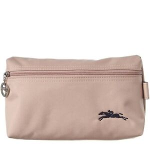 NWT LONGCHAMP Le Pliage Club Nylon Cosmetic Case Hawthorn Pink 100% AUTHENTIC!