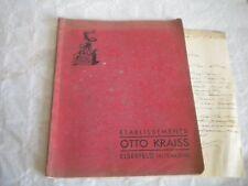 Vintage catalogue 1928 Otto Krais tools bells kitchenalia padlocks
