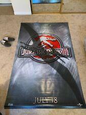 "Jurassic Park III 3 2001 Large Vinyl 2-Sided Movie Poster 93"" x 59"