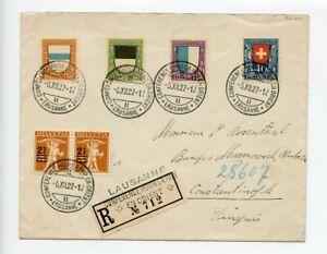 Switzerland 1922 Commemorative Cover Conference Pour La Paix En Orient #3