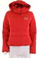 HOLLISTER Womens Padded Jacket Size 12 Medium Red Polyester  HH02