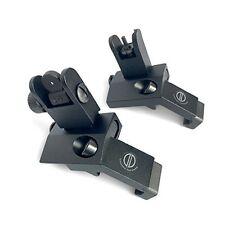45 degree angled BUIS backup iron sights for picatinny rail mount Dagger Defense