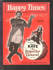 Inspector General 1949 Happy Times DANNY KAYE Movie Vintage Sheet Music