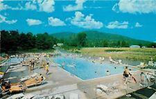 Lake George New York~Travel Trailer Park~Swimming Pool~1960s