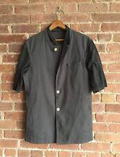 Kris Van Assche Men's Short Sleeve Shirt Jacket, Gray, Sz 48 Small Italy