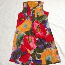 Calvin Klein Dress Career Work Church Trapeze Pockets Red Orange Green Size 4