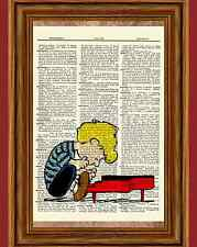 Schroeder Charlie Brown Dictionary Art Print Picture Poster Peanuts Piano Gift